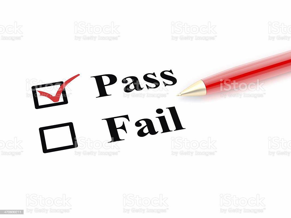Pass und nicht Wahl - Lizenzfrei Abmachung Stock-Foto