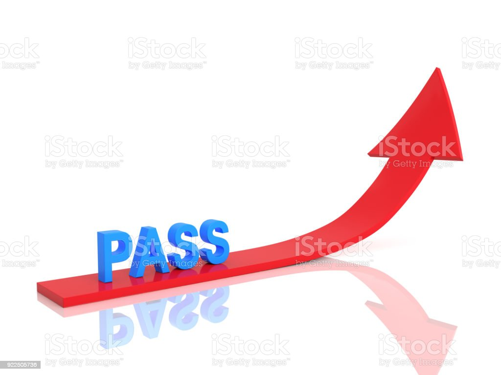Pass Concept Text - 3D Rendered Image stock photo