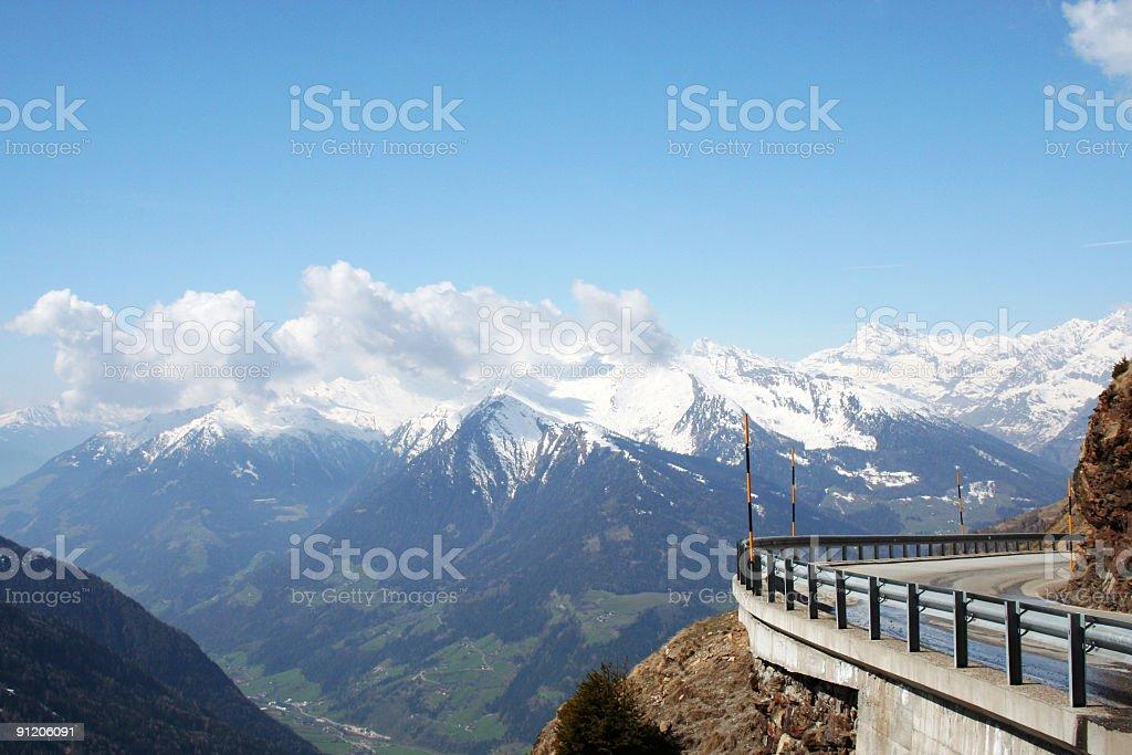 Pass in the Italian Alps stock photo
