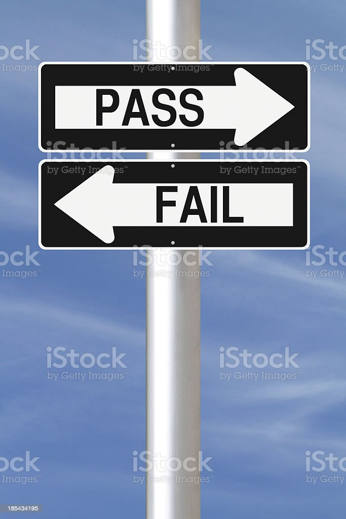 Pass or Fail royalty-free stock photo