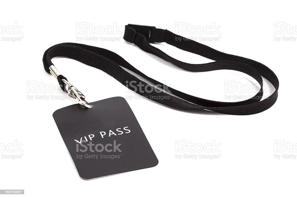 V.I.P pass stock photo