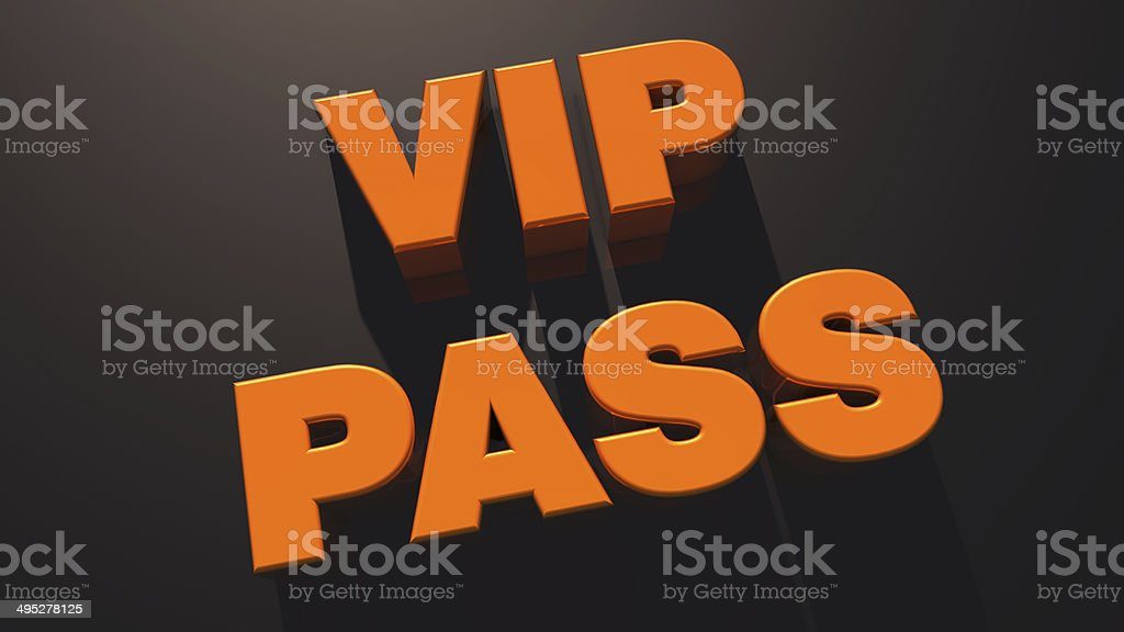 VIP pass royalty-free stock photo