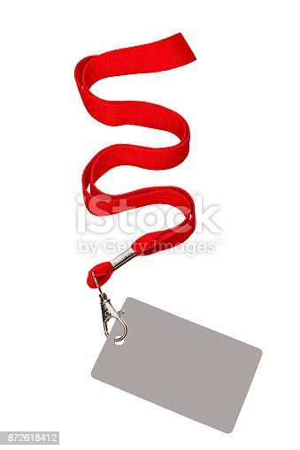 istock Pass red cord 872618412