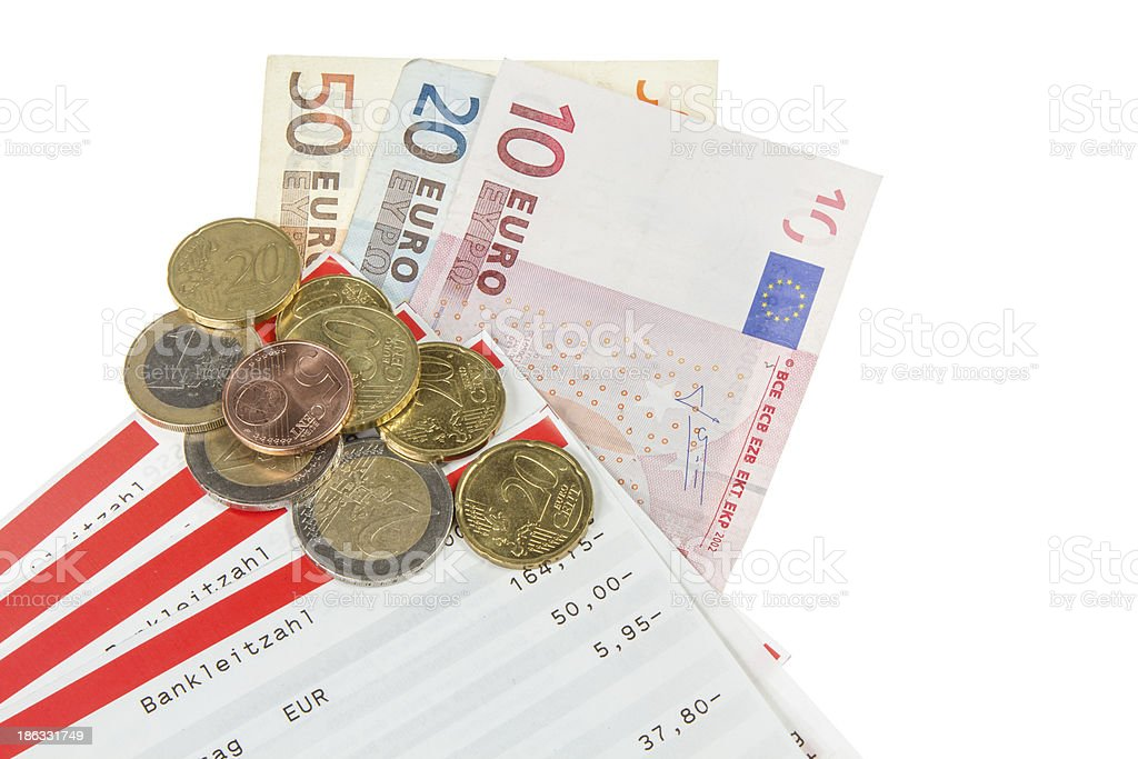 pass sheets with european currency royalty-free stock photo