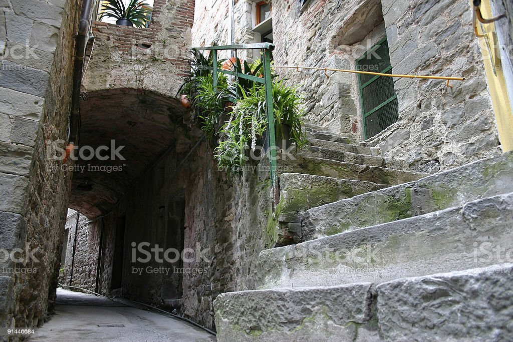 Passage and stairs royalty-free stock photo
