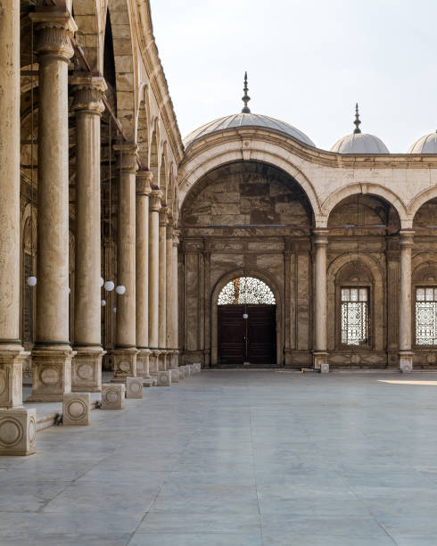 Passage at the courtyard of the Great Mosque of Muhammad Ali, Alabaster Mosque, Cairo Citadel, Egypt stock photo