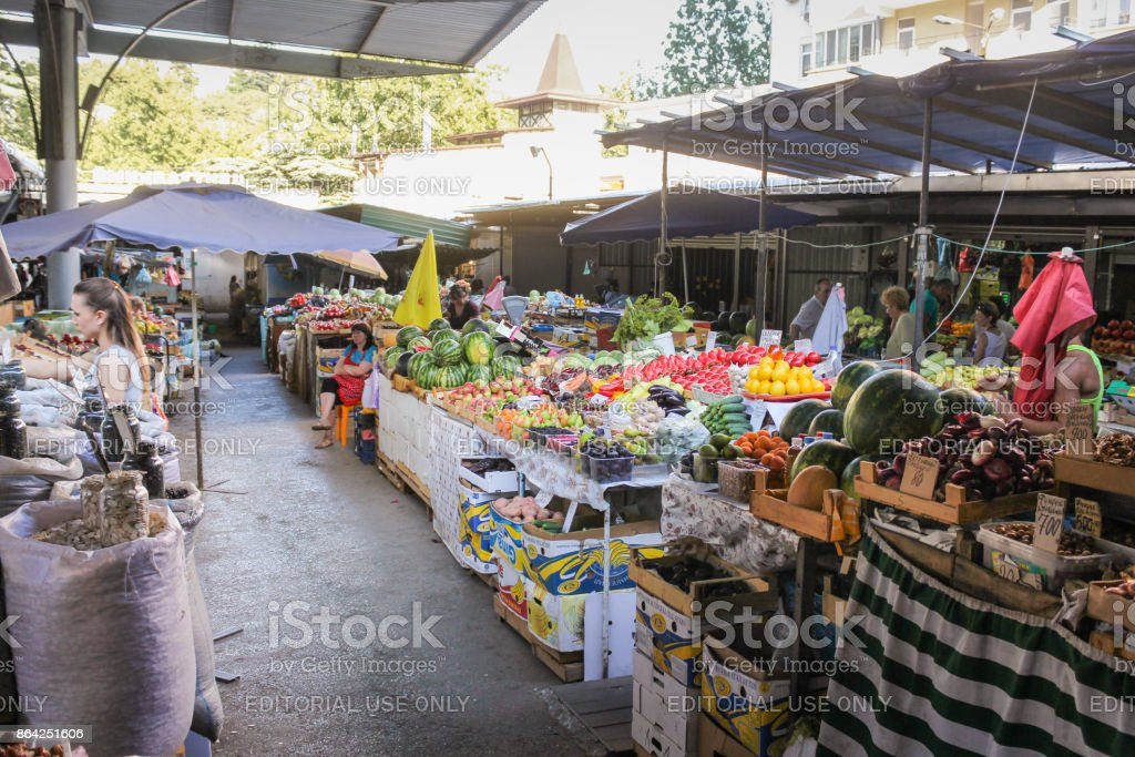 Passage between the goods. royalty-free stock photo