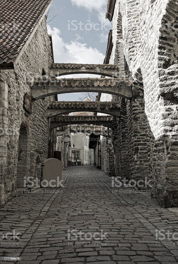 Passage in Tallinn, Estonia royalty-free stock photo