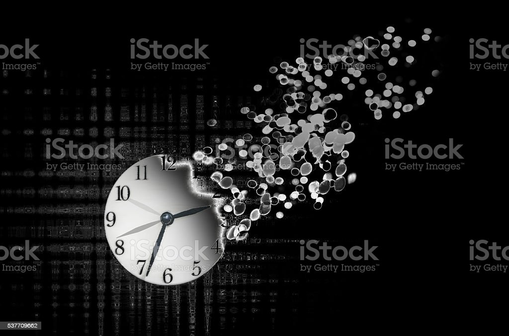 Passage of time stock photo