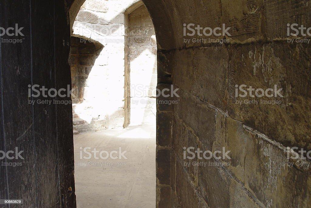 Passage through castle royalty-free stock photo
