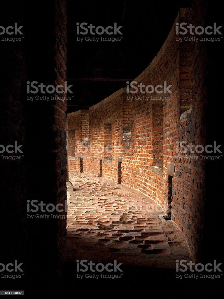 Passage to light royalty-free stock photo