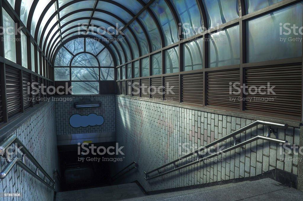 Passage to the Underground royalty-free stock photo