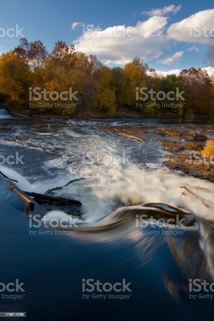 Passaic River, Paterson, New Jersey in Fall stock photo