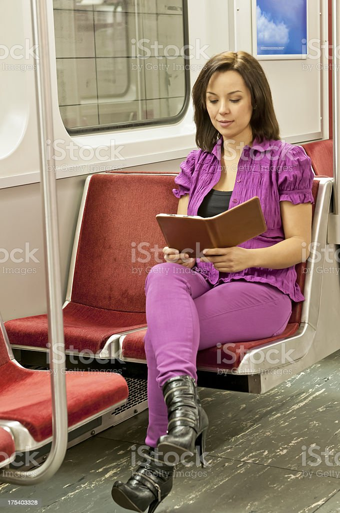 Passangers in a subway train - IX royalty-free stock photo
