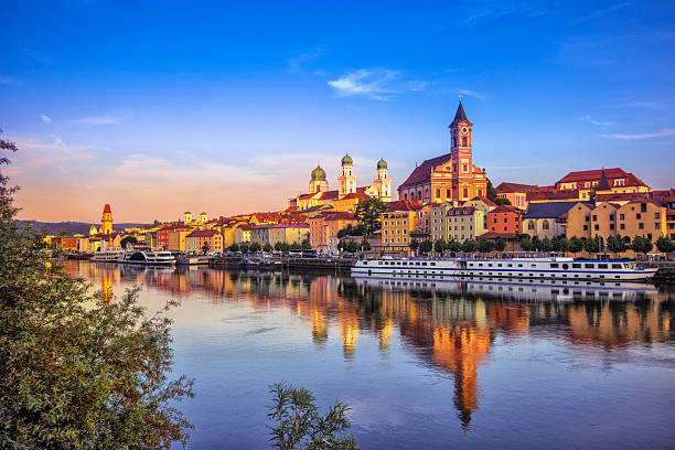 Passau at sunset