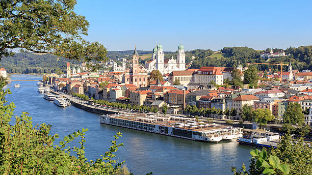 passau at the danube river - vienna stock photos and pictures