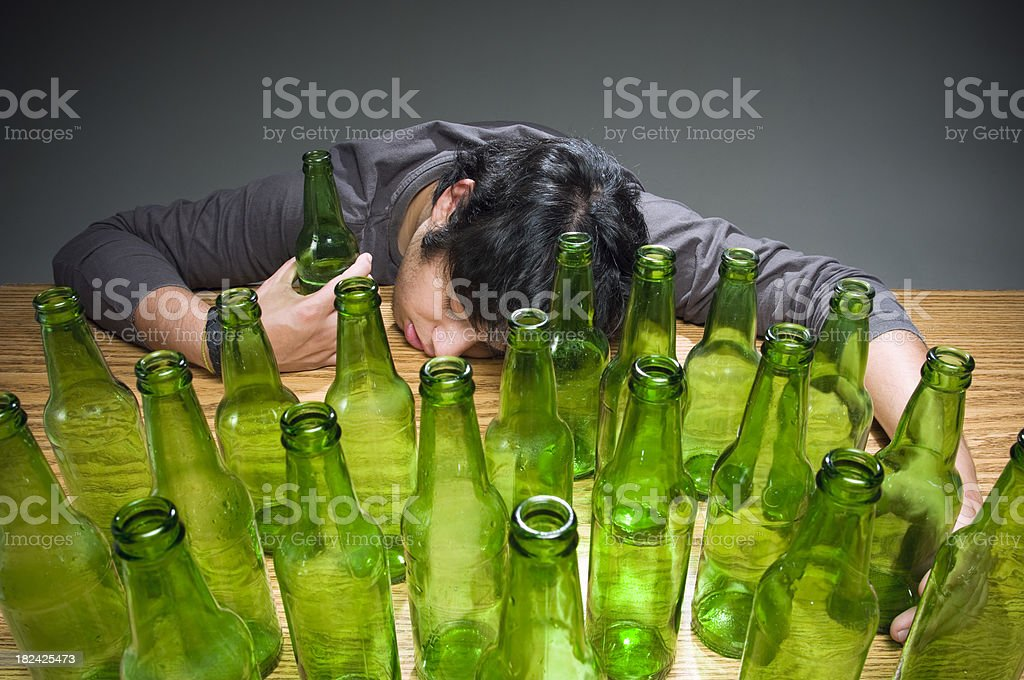 Passed out drunk royalty-free stock photo