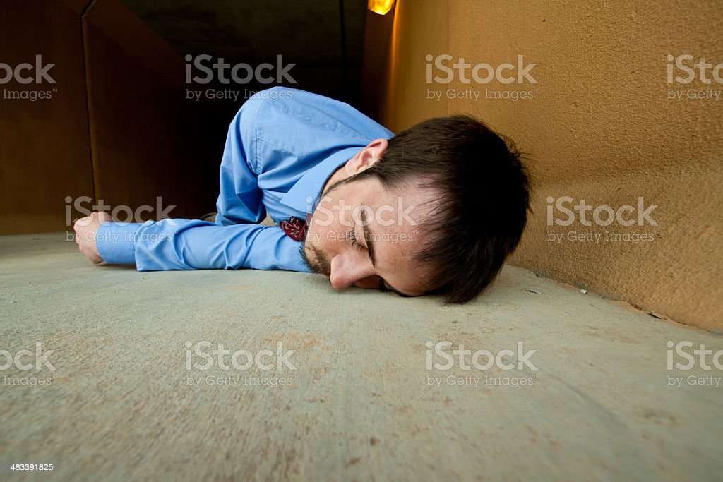 Passed Out stock photo