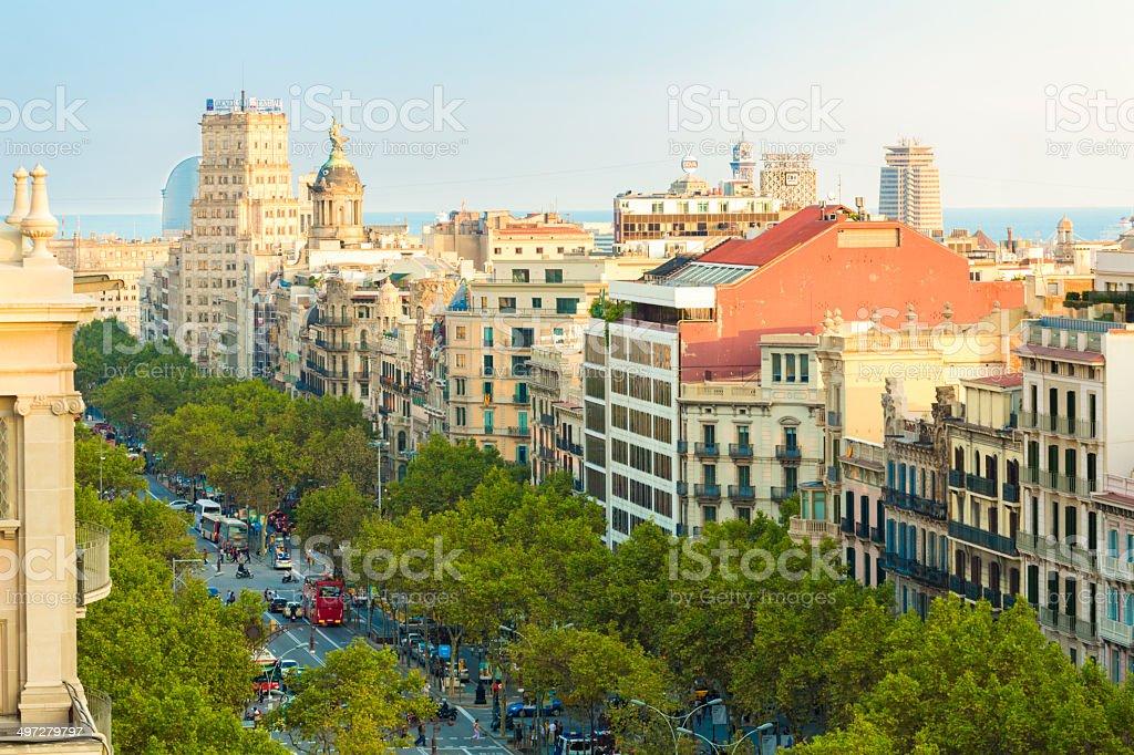 Passeig de Gracia, Barcelona stock photo