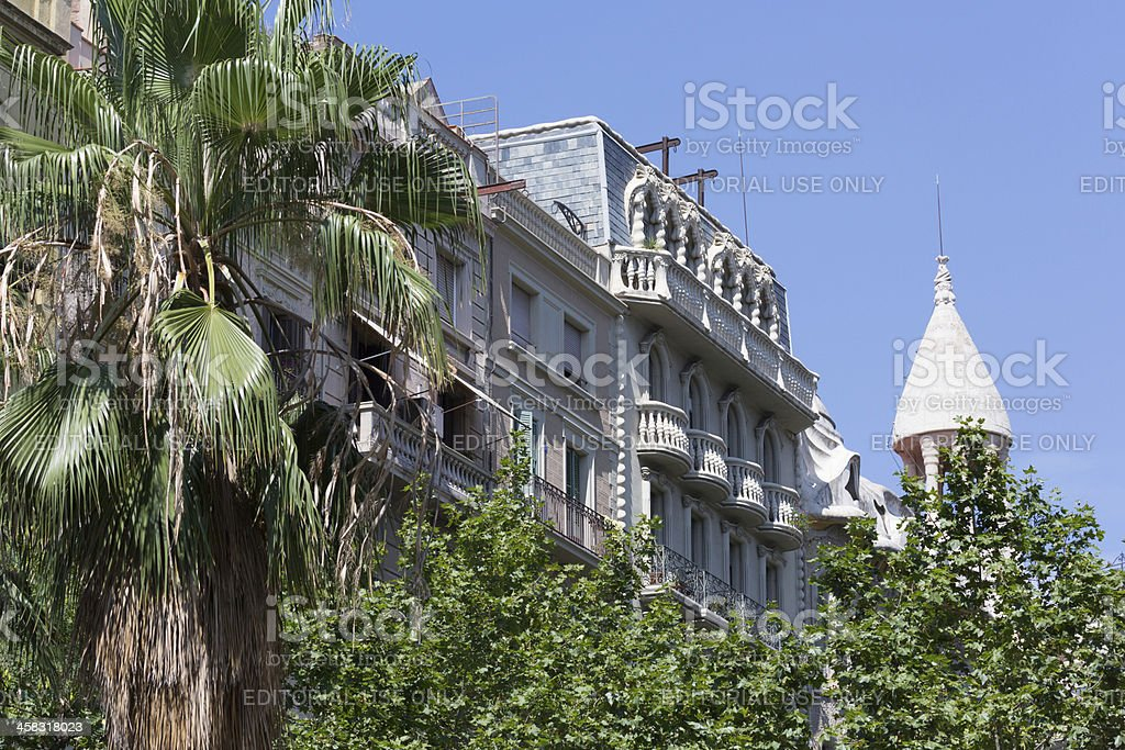 Passeig De Gracia royalty-free stock photo