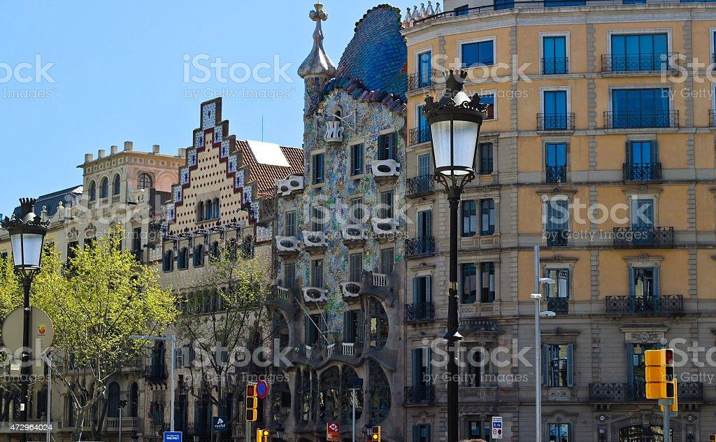 Passeigh de Gracia, Barcelona stock photo