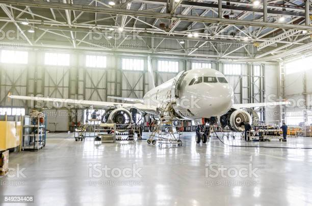 Passenger aircraft on maintenance of engine and fuselage repair in picture id849234408?b=1&k=6&m=849234408&s=612x612&h=o4zxdra5lhp653kg2foblhip0h3cwa5j9y7aaxhx1ha=
