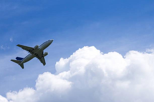 Passagier Flugzeug nach der Landung – Foto