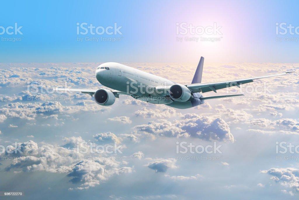 Passagierflugzeug Fliegen über Den Wolken Blick Aus Dem Fenster