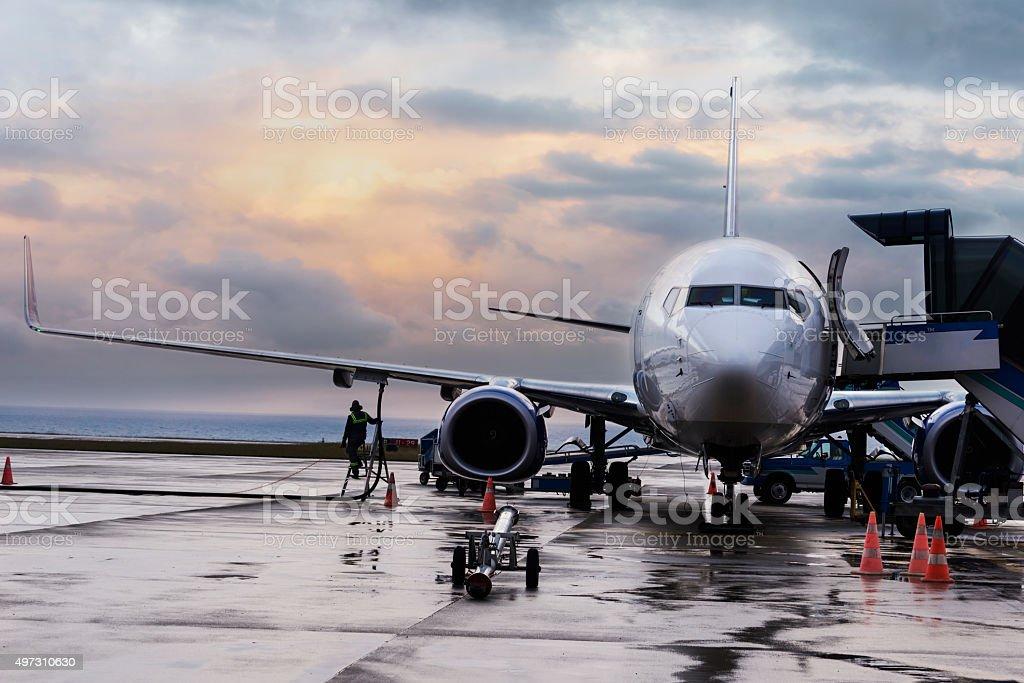 Flugzeug Passagier sich für den Flug - Lizenzfrei 2015 Stock-Foto