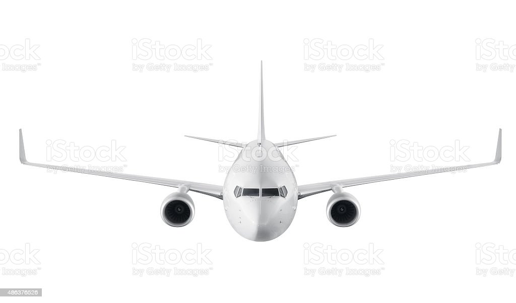 Passagers d'avion isolé sur fond blanc - Photo