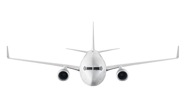 Passenger airplane isolated on white background stock photo