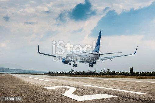 istock Passenger airplane landing 1182691534