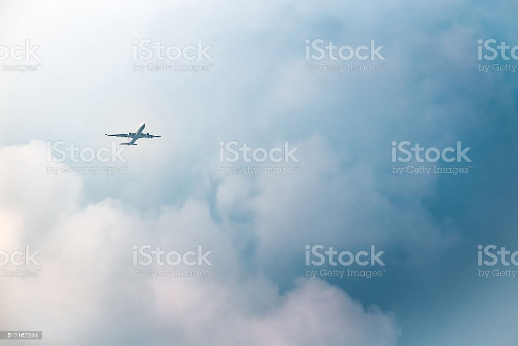 Passenger airplane stock photo