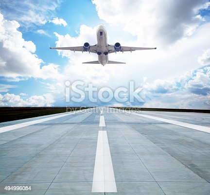 494996104istockphoto Passenger airplane taking off 494996084
