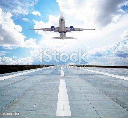 494996104 istock photo Passenger airplane taking off 494996084