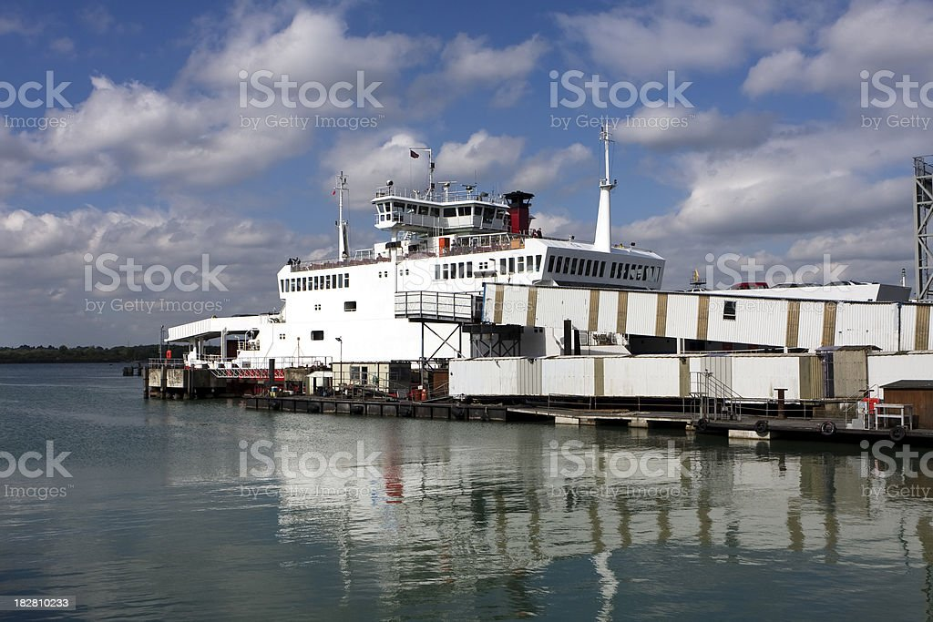 Passenger and car ferry royalty-free stock photo