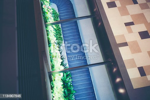 istock Passenger bag conveyor in modern airports 1134907545