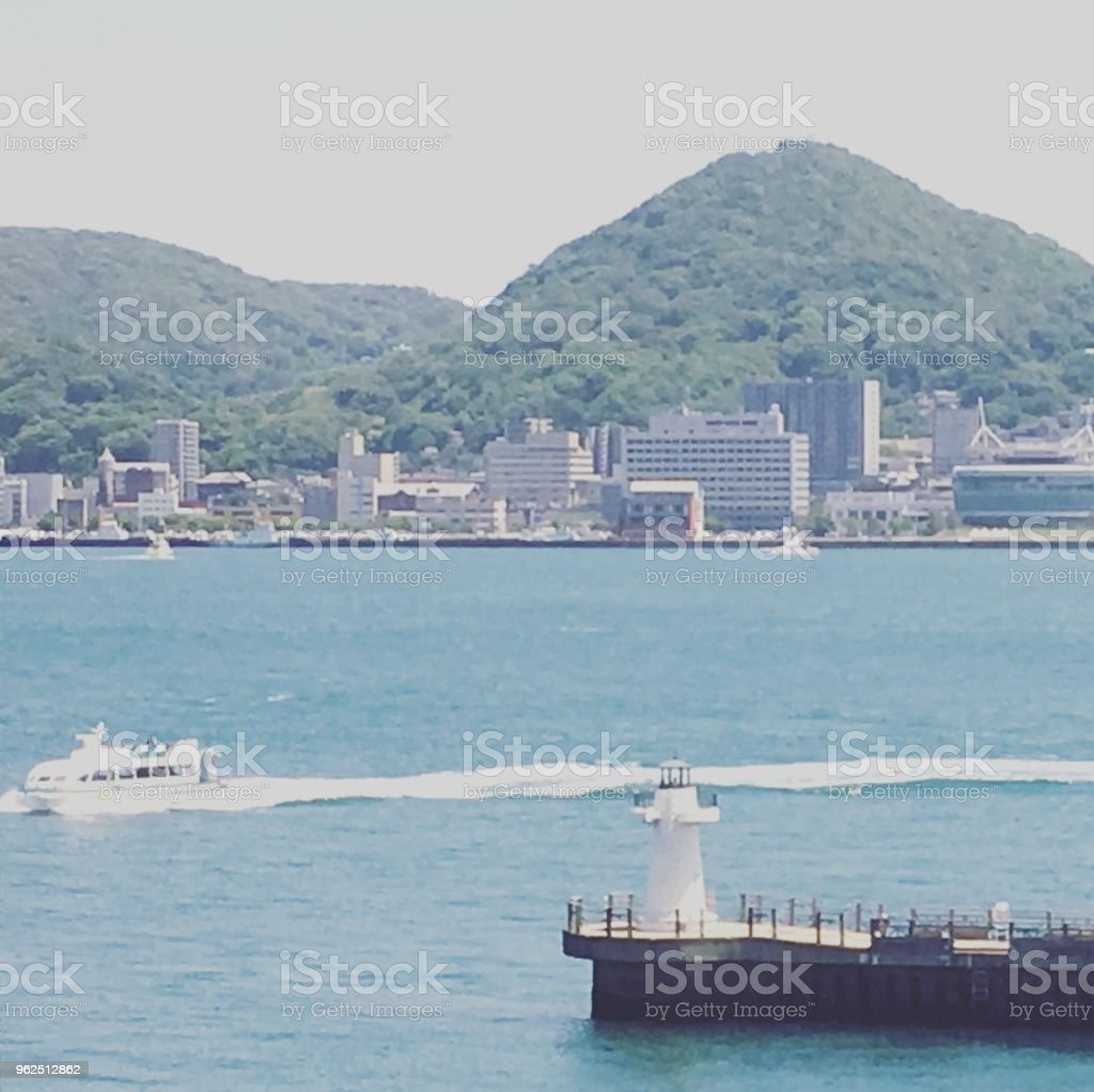 Passenger boat and sea - Royalty-free Horizontal Stock Photo