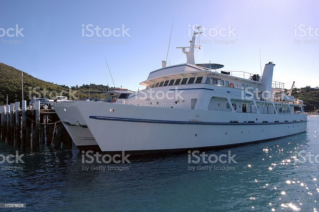 Passenger Boat at the dock jetty harbour royalty-free stock photo