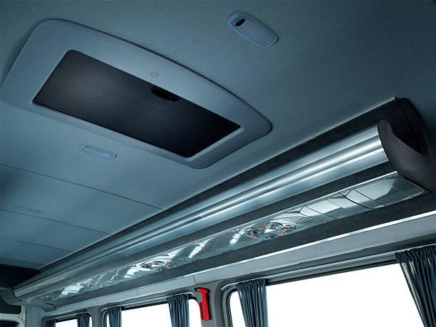passenger bus detail - eingangshalle wohngebäude innenansicht stock-fotos und bilder
