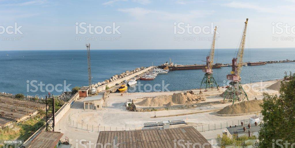 Passenger complex of Yalta trade port. Massandra, Crimea, Russia stock photo