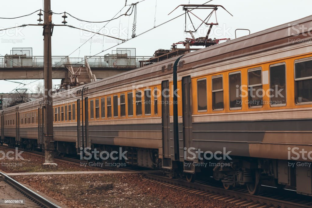 Passenger electric train royalty-free stock photo