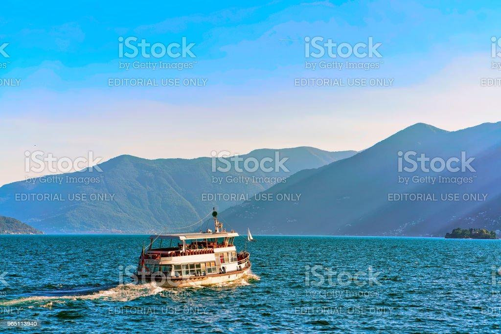 Passenger ferry Ascona in Ticino in Switzerland CH royalty-free stock photo
