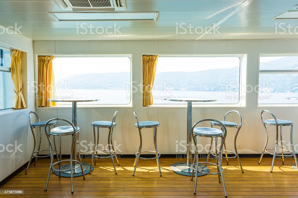 Passenger ferry cafe royalty-free stock photo