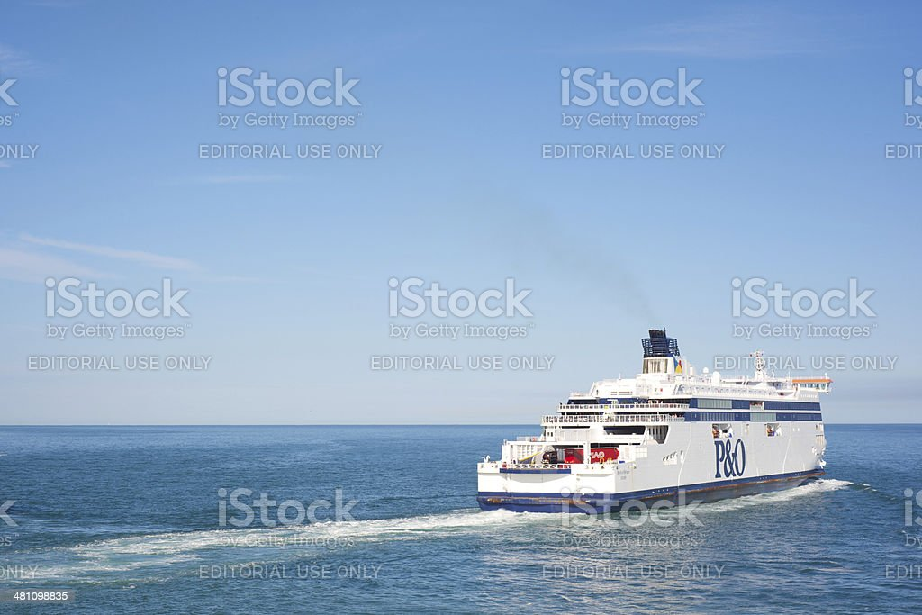Passenger ferry on the English Channel stock photo