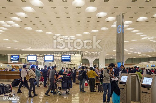 istock Passenger in Chhatrapati Shivaji International Airport. 537369037