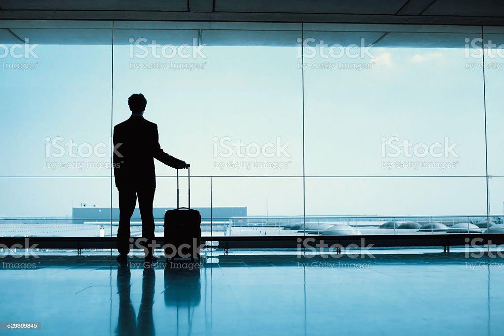 Passagier am Flughafen Lizenzfreies stock-foto