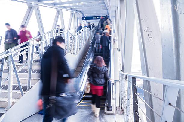 Passagier in die Beijing bus station.Motion blur – Foto