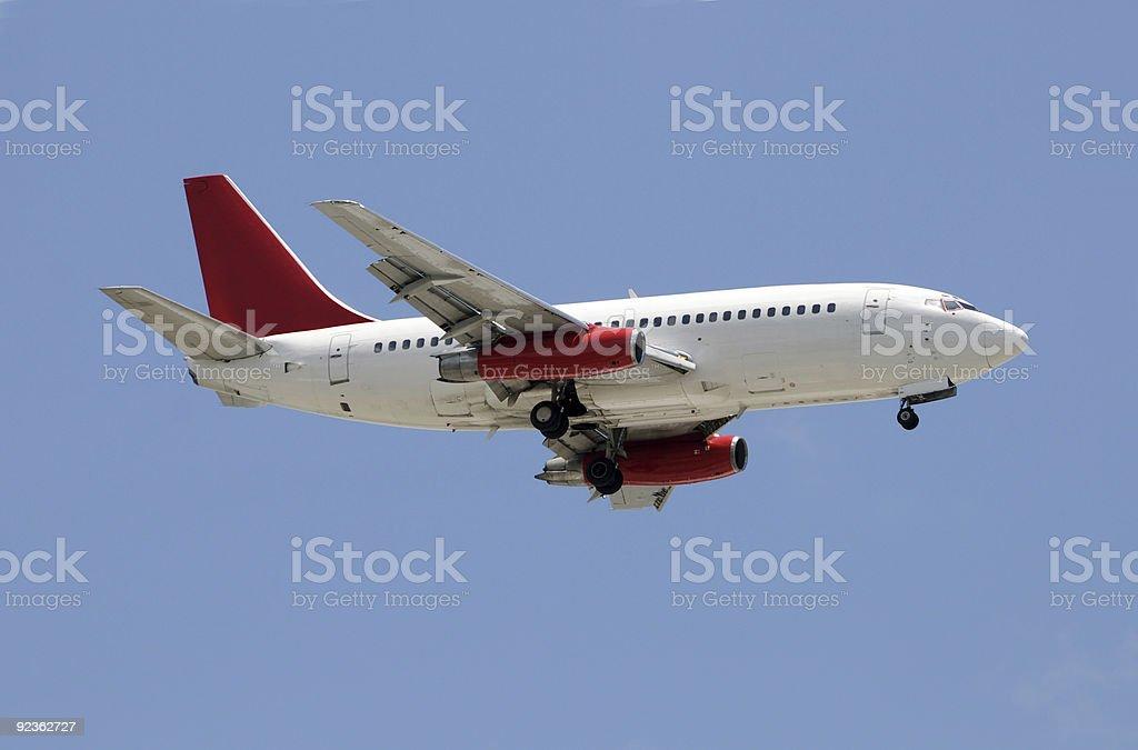 Passenger jet airplane royalty-free stock photo