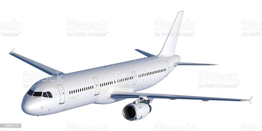Passenger Jet Isolated on white stock photo
